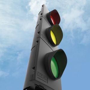 led traffic light by coeval
