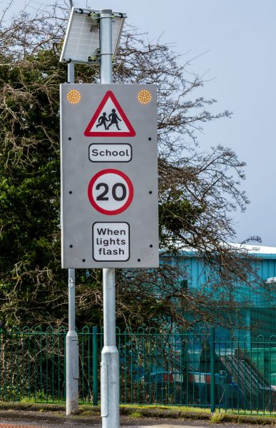 school warning signs, school crossing signs, LED signage, road sign,