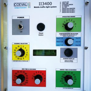 Coeval temporary Traffic Light control box
